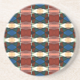 Red Green And Blue Abstract Coaster
