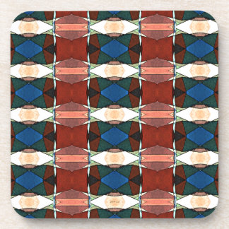 Red Green And Blue Abstract Coasters
