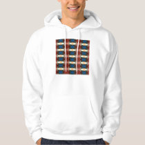 Red Green And Blue Abstract Hoodie