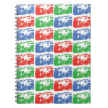 red green and blue camera pattern note books