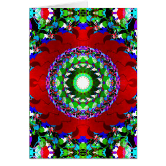 Red Green And Blue Circles Card