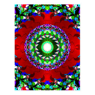 Red Green And Blue Circles Postcard