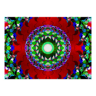 Red Green And Blue Circles Poster