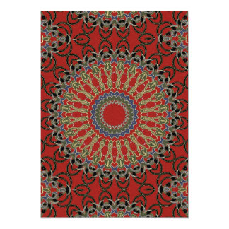 Red, Green and Blue Mandala Crafting Paper Card