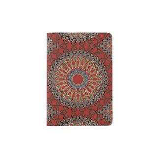 Red, Green and Blue Mandala Passport Holder
