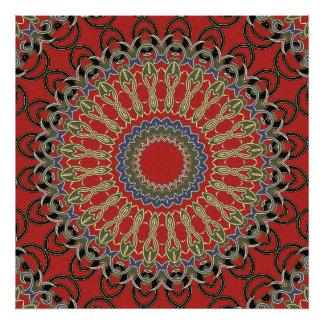 Red, Green and Blue Mandala Art Photo