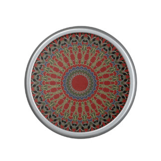 Red, Green and Blue Mandala Speaker