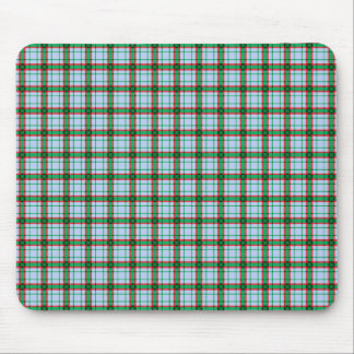 Red, Green and Blue Plaid Mouse Pad