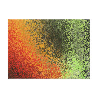 Red Green And Gold Pattern Gallery Wrap Canvas
