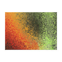 Red Green And Gold Pattern Canvas Print