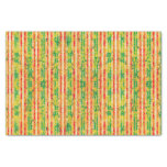 Red, Green and Gold Stripes Tissue Paper