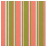 [ Thumbnail: Red, Green, and Light Grey Striped/Lined Pattern Fabric ]