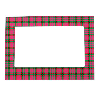 Red, Green and Pink Plaid Magnetic Picture Frame