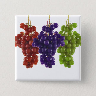 Red Green and Purple Grapes Button