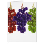 Red Green and Purple Grapes Card