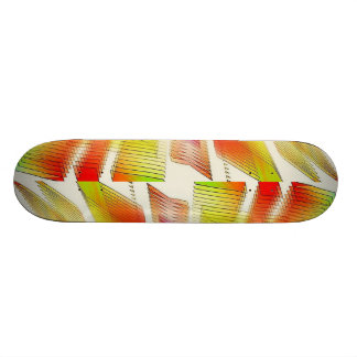 Red Green And White Light Strips Skateboard