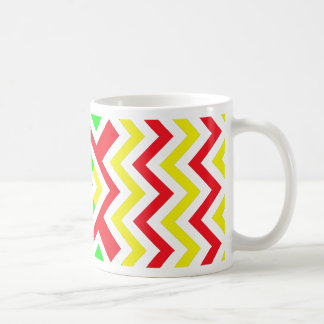 Red, Green and Yellow Chevron Pattern Coffee Mug
