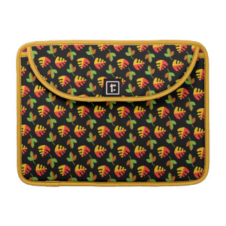 Red Green and Yellow Leaves Pattern Sleeve For MacBooks