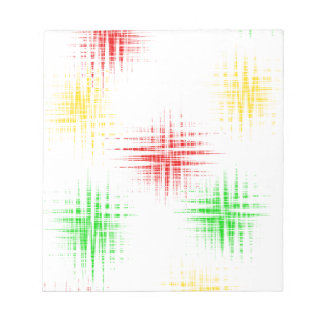 Red, green and yellow notepad