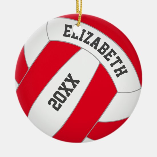 red green ANY color personalized girl's volleyball Ceramic Ornament