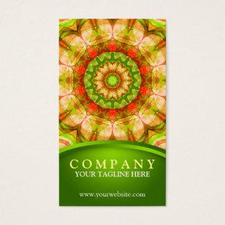 Red Green Apples (120) Mandala Business Card