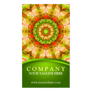 Red Green Apples (120) Mandala Double-Sided Standard Business Cards (Pack Of 100)