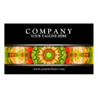 Red Green Apples mandala modern Double-Sided Standard Business Cards (Pack Of 100)