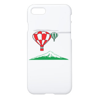 Red green balloons with a green mountain iPhone 7 case