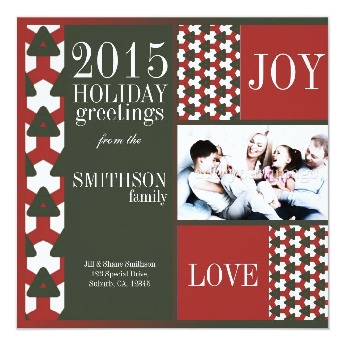 Red Green Best Holidays Family Holiday Photo Card