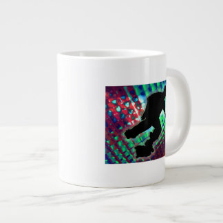 Red Green & Blue Abstract Boxes Skateboarder Large Coffee Mug