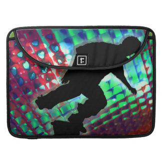 Red Green & Blue Abstract Boxes Skateboarder Sleeves For MacBook Pro