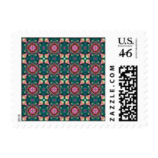 Red Green Blue Abstract Postage Stamp