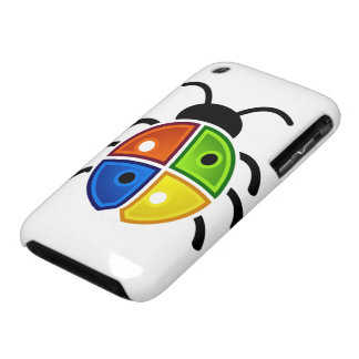 Red Green Blue and Yellow Ladybug iPhone 3 Case