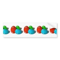 Red, Green, Blue Easter Eggs Bumper Sticker