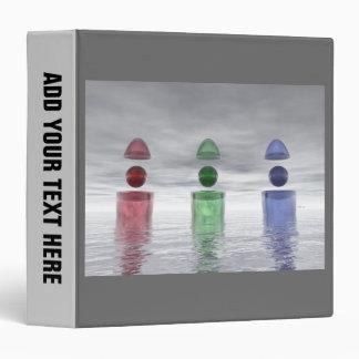 Red Green Blue Glass Binder