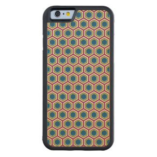 Red, Green, & Blue Honeycomb - iPhone 6 Wood Case Carved® Maple iPhone 6 Bumper Case