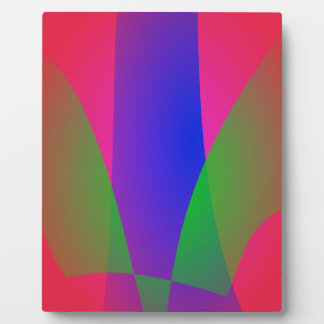 Red Green Blue Vivid Abstract Art Display Plaque