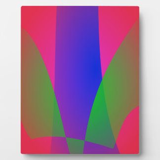 Red Green Blue Vivid Abstract Art Photo Plaque