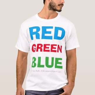 Red Green Blue (White Tee) T-Shirt