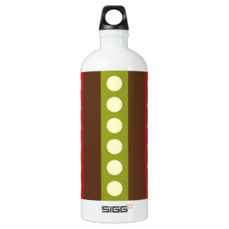 Red Green Brown Polka Dots in Stripes SIGG Traveler 1.0L Water Bottle