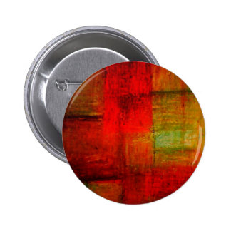 Red Green Browny Yellow Abstract Art Pinback Button