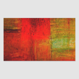 Red Green Browny Yellow Abstract Art Stickers