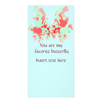 red-green butterfly photo card