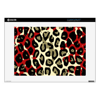 Red Green Camouflage Cheetah Abstract Laptop Decals