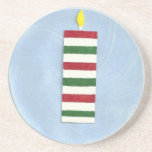 Red Green Candle Coaster