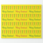 [ Thumbnail: Red, Green Candy Canes & Merry Christmas! Pattern Wrapping Paper ]
