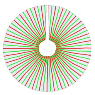 Red & Green Candy Striped Tree Skirt