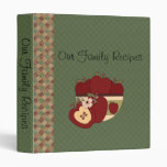 Red Green Checkered Country Apples Recipe Binder