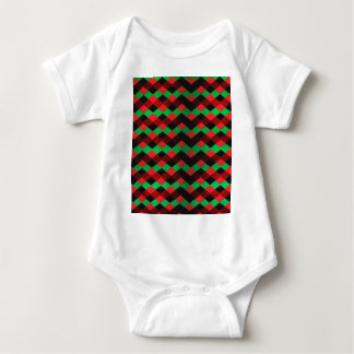 Red Green Chevron Baby Bodysuit