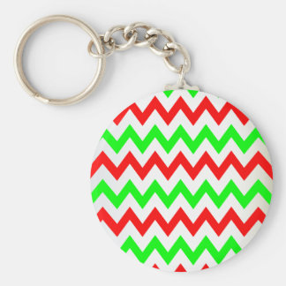 red green chevron key chain
